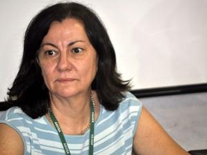 A gerente de Regulação e Controle Sanitário da Anvisa, Maria Ângela da Paz, em Campinas (Foto: Fernando Pacífico / G1 Campinas)