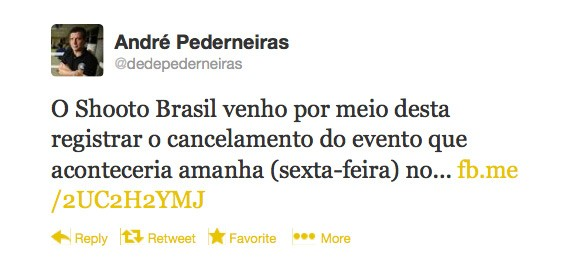 Twitter, André Pederneiras, Cancelamento (Foto: Reprodução SporTV)