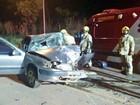 Batida frontal entre carros deixa cinco pessoas feridas em Sobradinho, DF