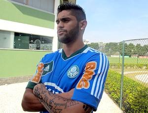 Luan treino Palmeiras (Foto: Diego Ribeiro / Globoesporte.com)