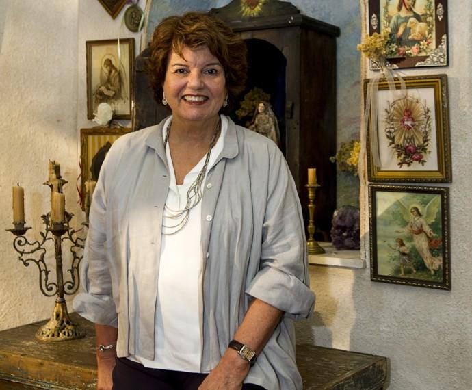 Elizabeth Jhin costuma escrever novelas de cunho espiritulista (Foto: Estevam Avellar/Globo)
