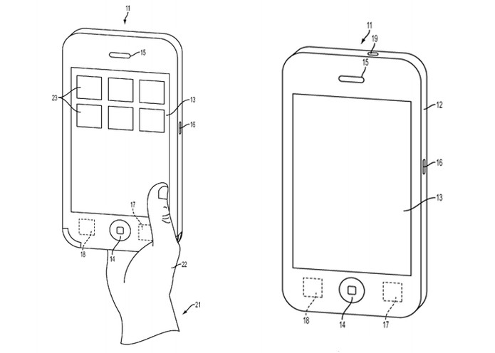 Smartphone será capaz de reparar erros não identificados pelo usuário  (Foto: Reprodução/United States Patent and Trademark Office)