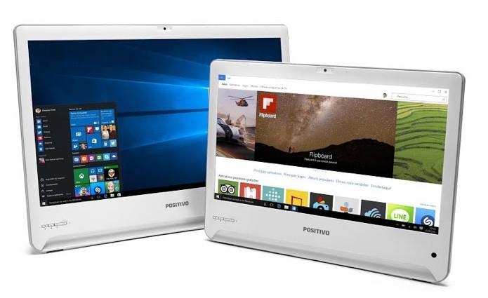Computadores têm duas opções de tela, de 18,5 e 23,6 polegadas (Foto: Divulgação/Positivo)
