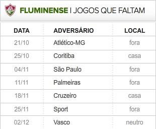 Fluminense 7 ultimas rodadas (Foto: Editoria de Arte / Globoesporte.com)