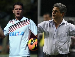 Vagner Mancini, do Atlético-PR, e Ney Franco, do Vitória (Foto: Arte/Site oficial do Atlético-PR e Saopaulo.net)