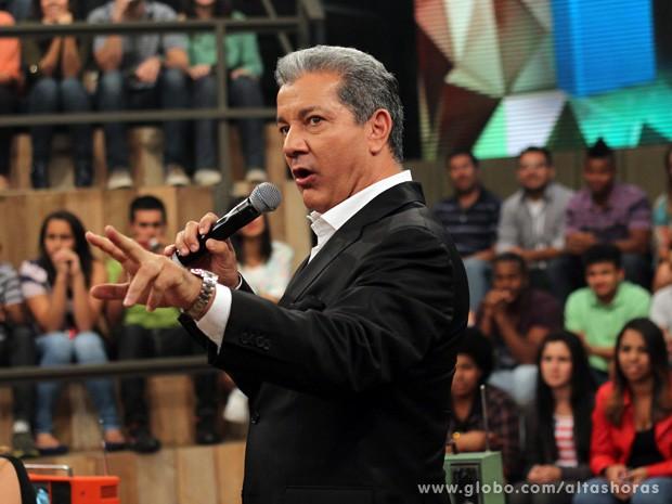 Bruce Buffer participa do programa Altas Horas deste sábado (Foto: TV Globo/Altas Horas)