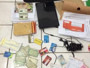Material apreendido em ação policial (Foto: Divulgação/SSPMA)