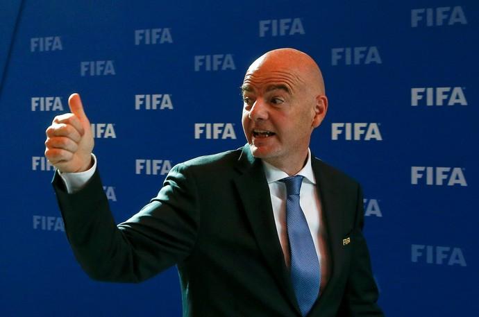 Gianni Infantino , presidente da Fifa (Foto: Arnd Wiegmann/Reuters)