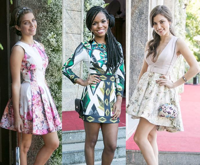 Karina, Sol e Bianca lacraram no look com diferentes tendências (Foto: Raphael Dias/Gshow)