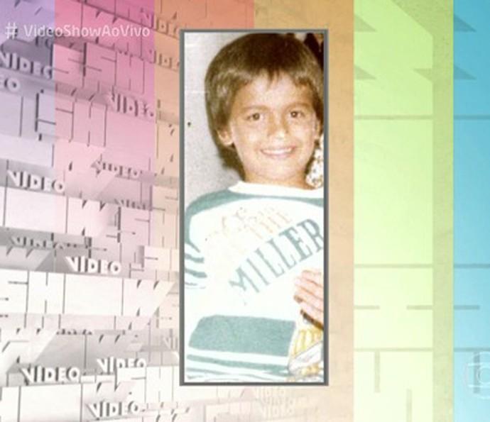 Otaviano também mostrou foto sua de quando era criança (Foto: TV Globo)