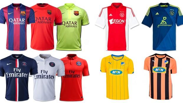 As camisas de cada time da Champions  4235f389516f4