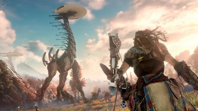 Horizon: Zero Dawn nos mostra mais da história de Aloy e eu perigoso mundo (Foto: Reprodução/Game.co.uk)