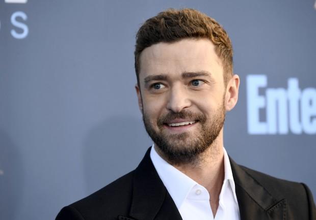Justin Timberlake em prêmio em Los Angeles, nos Estados Unidos (Foto: Frazer Harrison/ Getty Images/ AFP)