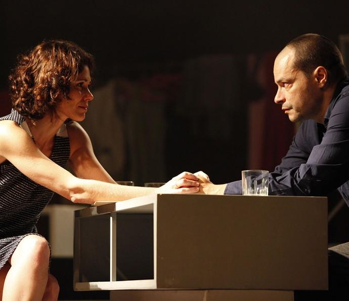 Juliana Martins e Heitor Martinez na peça 'Cenas de um Casamento' (Foto: Arquivo pessoal)