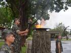 Militares do Exército participam das 'Olimpíadas do Batalhão' no Amapá