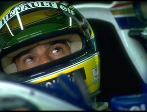 Ayrton Senna momentos antes da largada do GP de San Marino de 1994: angústia e preocupação (Foto: Getty Images)