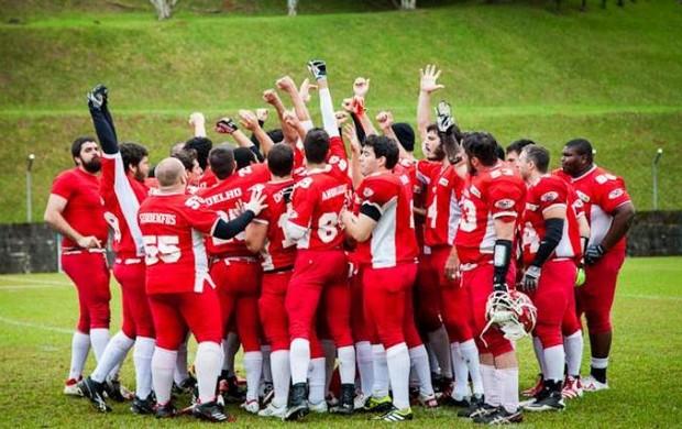 são josé istepôs, futebol americano, final campeonato catarinense, equipe, grupo, santa catarina (Foto: Divulgação / São José Istepôs)
