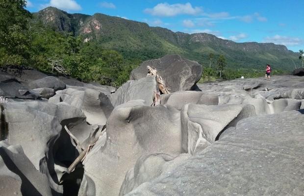 Vale da Lua é uma das principais atrações da Chapada dos Veadeiros em Alto Paraíso, Goías (Foto: Vitor Santana/G1)
