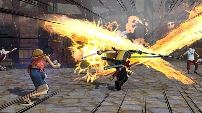 Ataques em conjunto chamados Kizuna Rush são uma das novidades em Pirate Warriores 3 (Foto: Divulgação / BANDAI NAMCO)