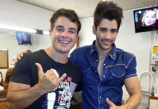 Anderson com o cantor Gusttavo Lima (Foto: Arquivo Pessoal)