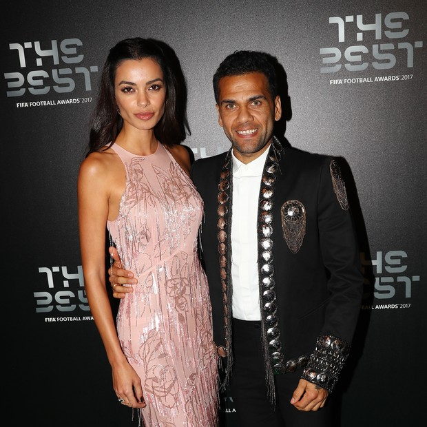 Joana Sanz e Daniel Alves  (Foto: getty images)