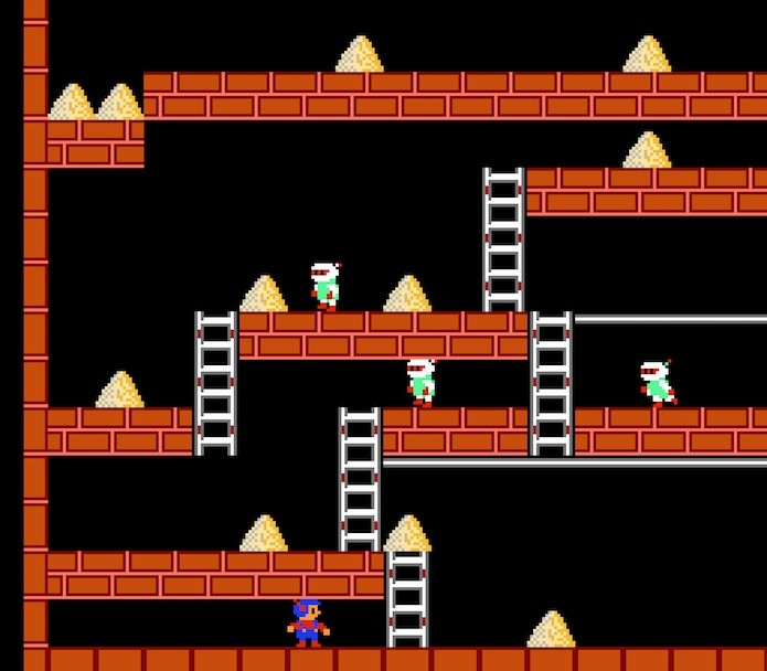 O herói de Lode Runner do NES era a versão humana de Bomber Man (Foto: Reprodução/usgamer.net)