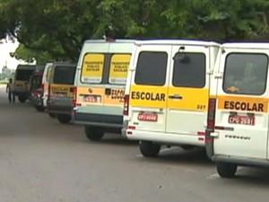Vans escolares de São José dos Campos (Foto: Reprodução/TV Vanguarda)