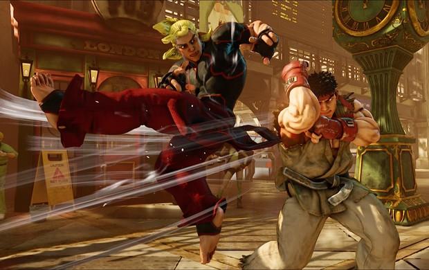 Ken dá uma lição em Ryu em cena de 'Street Fighter V' (Foto: Divulgação/Capcom)