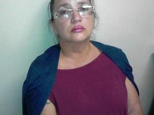 Maria Mônica Vargas foi presa após denúncia (Foto: Polícia Militar)