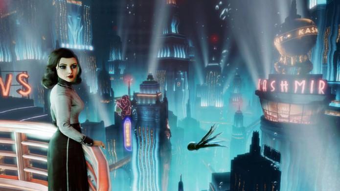 Reencontre Booker e Elizabeth na realidade paralela de BioShock Infinite: Burial at Sea e veja como Rapture era no seu ápice (Foto: Reprodução/Steam)