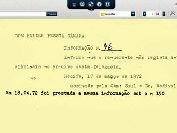 Documentos como o prontuário de Dom Helder Câmara estão disponíveis em um acervo digital. (Foto: Divulgação)