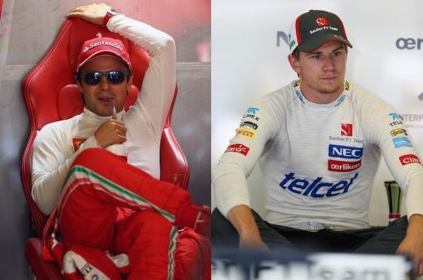 Agora, Felipe Massa e Nico Hulkenberg são concorrentes por uma vaga na Lotus (Foto: Editoria de Arte)