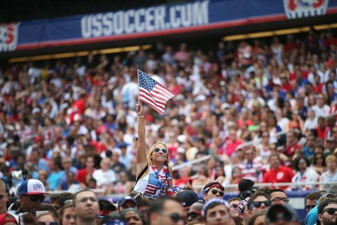 Torcida Estados Unidos futebol Copa do Mundo 2014 (Foto: Getty Images)