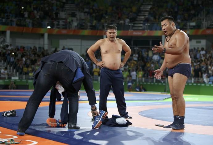 Luta Olímpica Mongólia  (Foto: REUTERS)