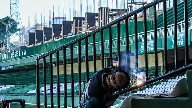 Estádio Couto Pereira obras reforma (Foto: Divulgação / Site oficial do Coritiba)