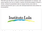 No Facebook, Lula diz que nem 'sequer dormiu' em triplex em Guarujá