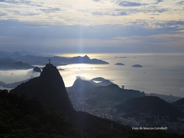 Rio tem céu parcialmente nublado neste domingo (21) (Foto: Marcos Estrella/ TV Globo)
