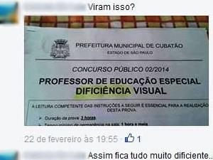 Candidatos satirizaram o erro nas redes sociais (Foto: Reprodução / Facebook)