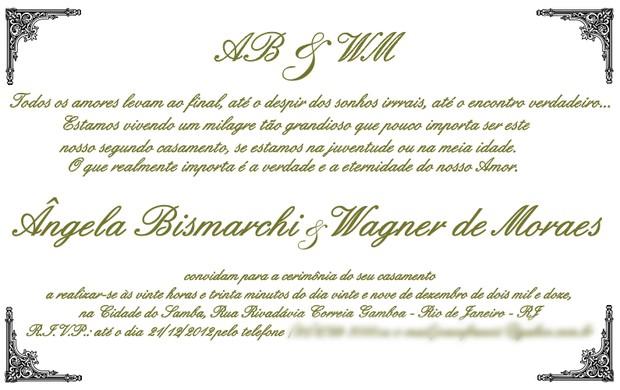Ego Veja O Convite De Casamento De ângela Bismarchi Notícias De