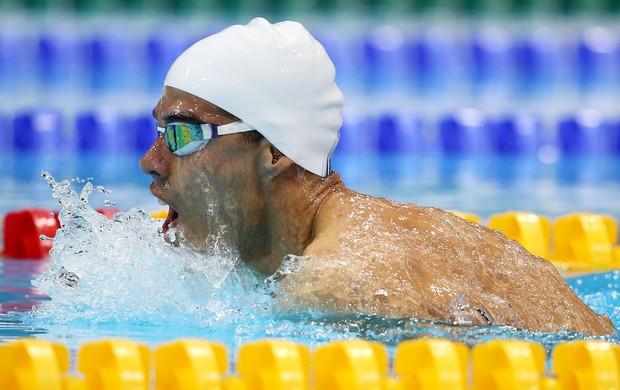 Na final dos 100m peito SB4, Daniel Dias dominou prova e abriu vantagem de mais de 4s para segundo colocado (Foto: Getty Images)