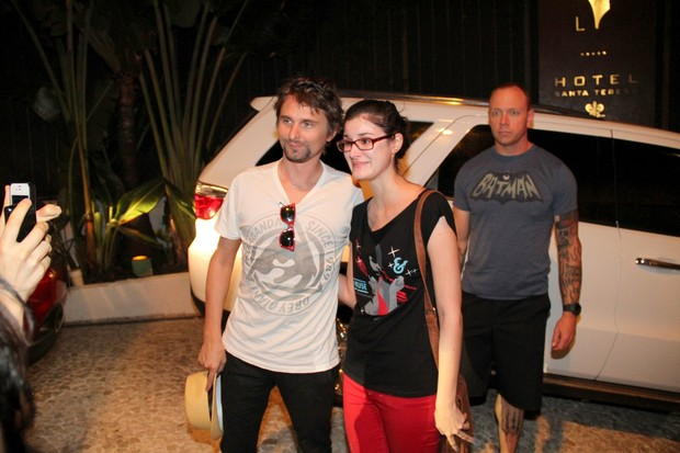 Matt Bellamy, vocalista do Muse e fã (Foto: Wallace Barbosa/AgNews)