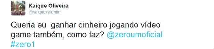 Internauta comenta Zero1 na web (Foto: Reprodução da Internet)