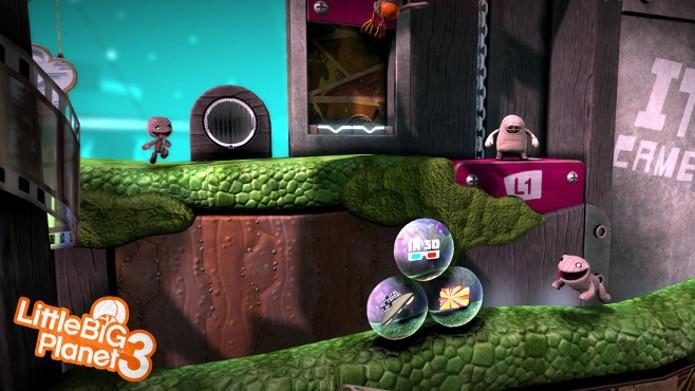 Bolhas com adesivos contendo bônus no jogo (Foto: Divulgação)