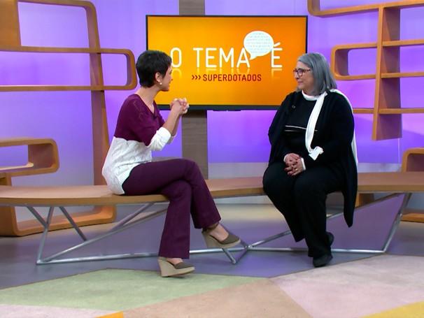 Cristina Delou fala sobre superdotação (Foto: Globo)