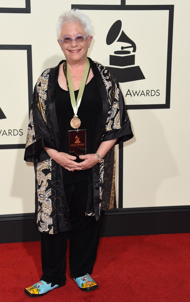 Janis Ian no Grammy 2016 (Foto: Getty Images)