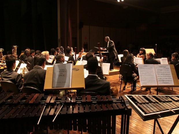 Banda Sinfônica da FUNDEC (Foto: Teófilo Negrão)