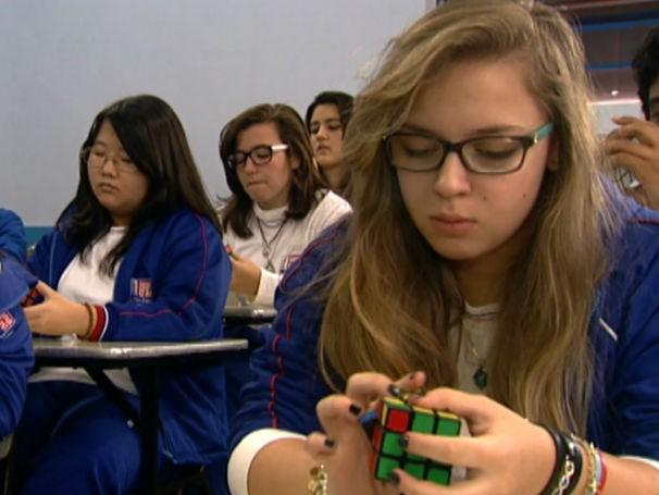 Cubo mágico virou disciplina em escola de São Paulo (Foto: Divulgação)