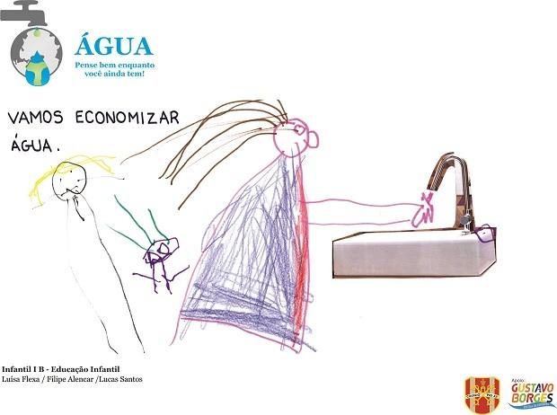 Alunos participaram de concurso e criaram campanhas para o uso consciente da água (Foto: Divulgação)