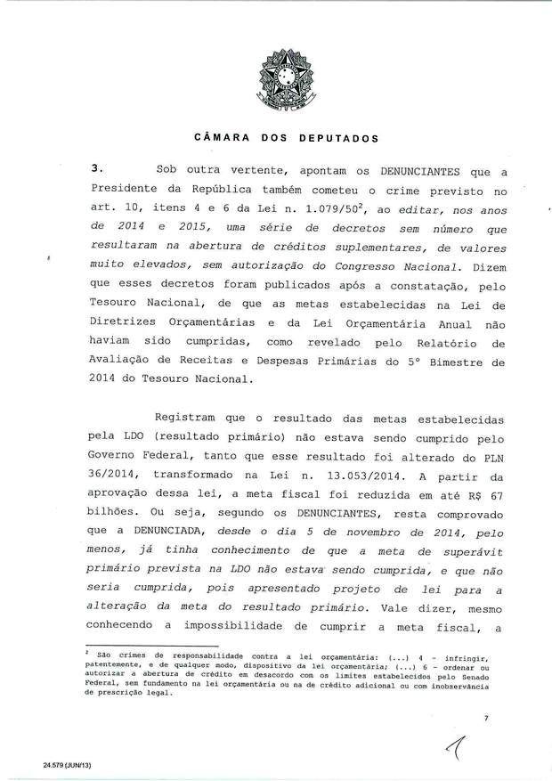 7 - Leia íntegra da decisão de Cunha que abriu processo de impeachment (Foto: Reprodução)