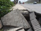 Frequentadores da Avenida Litorânea reclamam de buracos no calçadão